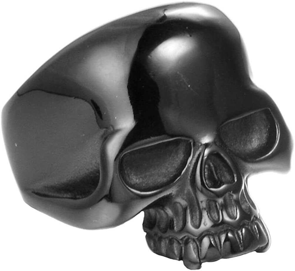 INRENG 316L Stainless Steel Men's Cool Skull Head Ring Punk New Jewelry