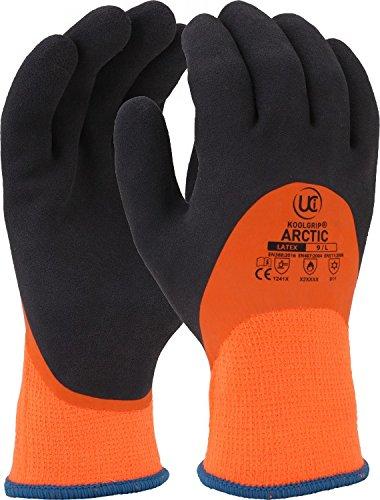 Gardening Supplies Scan Hi-vis Orange Foam Latex Coated Gloves Size 8 Medium Business & Industrial