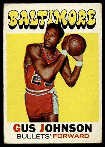 Basketball NBA 1971-72 Topps #77 Gus Johnson DP VG Very Good