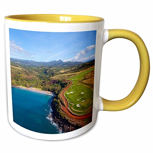 3dRose Danita Delimont - Hawaii - Lawai Valley, Kukuiula, Poipu, Kauai, Hawaii, USA - US12 DPB2531 - Douglas Peebles - 11oz Two-Tone Yellow Mug - Hawaii Kukuiula