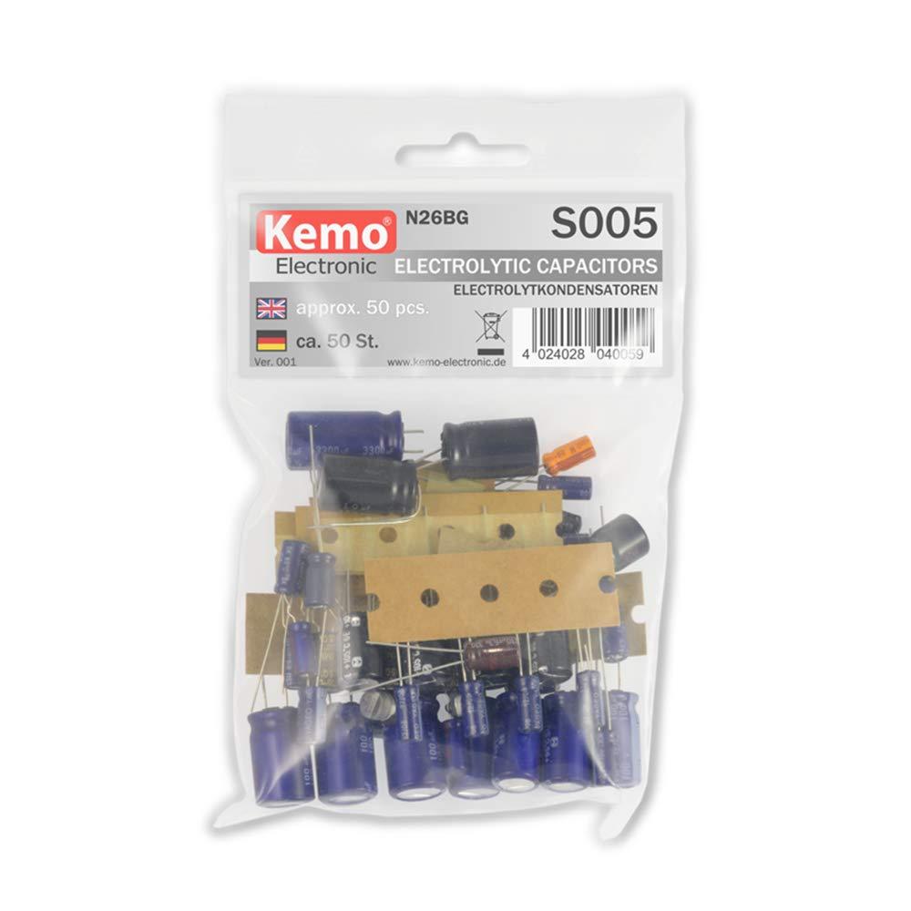 Kemo S005 Elektrokondensatoren Set Mit Ca 50 Stück Gemischtes Sortiment Verschiedene Größen Und Typen Gewerbe Industrie Wissenschaft