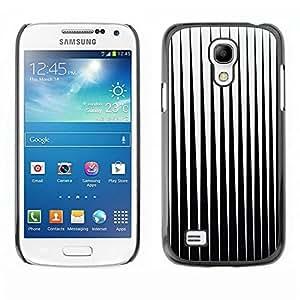 Be Good Phone Accessory // Dura Cáscara cubierta Protectora Caso Carcasa Funda de Protección para Samsung Galaxy S4 Mini i9190 MINI VERSION! // Black White Minimalist Abstract Vertic