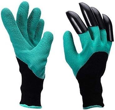 Garten-Handschuhe mit 4 ABS Kunststoff-Krallen für Garten graben ZP