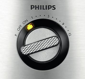 Philips HR7778, 1000 W, 1 Liter, Plástico, 12 Velocidades, Acero Inoxidable: Amazon.es: Hogar