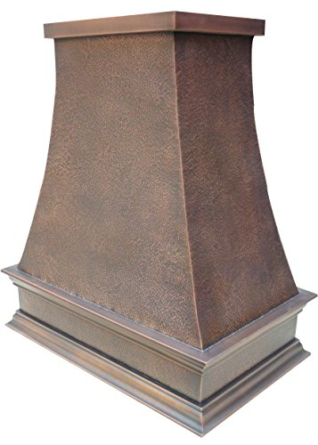 "Sinda Copper Kitchen Range Hood with High Airflow Centrifugal Blower, Includes SUS 304 Liner and Baffle Filter, High CFM Vent Motor, Wall/Island/Ceiling Mount, Width 30/36/42/48 in (W36""xH42""Island)"
