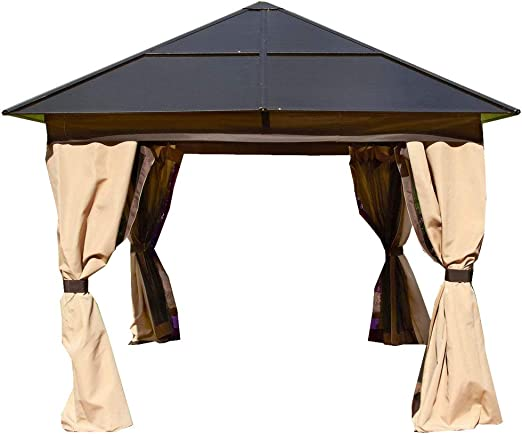 Policarbonato aluminio All Weather permanente Gazebo 2, 5 x 2, 5 m ...