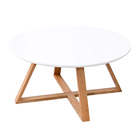 Amazon.com: JQWYXZZ Small Table, White Small Round Table ...
