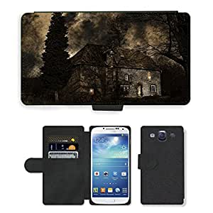 Hot Style Cell Phone Card Slot PU Leather Wallet Case // M00170147 Fear Building Old Facade Mysticism // Samsung Galaxy S3 S III SIII i9300