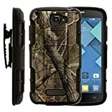 Alcatel POP ICON Case, Alcatel POP ICON Holster, High Impact Advanced Double Layered Hard Cover with Built in Kickstand and Belt Clip for Alcatel One Touch Fierce 2 7040T, Alcatel POP ICON A564C (T Mobile, Metro PCS, Straight Talk) from MINITURTLE | Includes Screen Protector - Nature's Camouflage