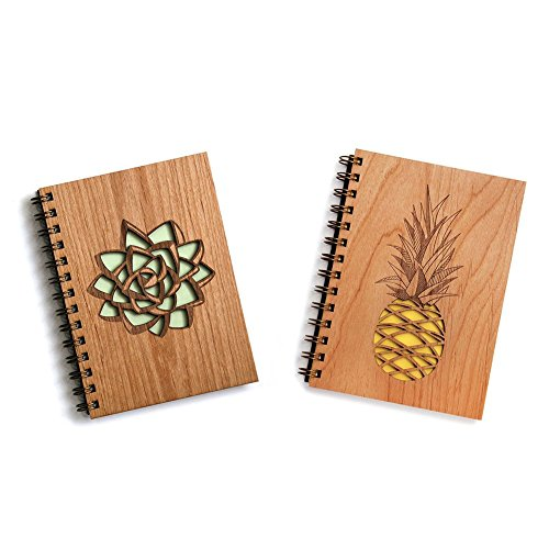 Exclusive for Amazon Prime Members - Handmade Succulent and Pineapple Journal Bundle