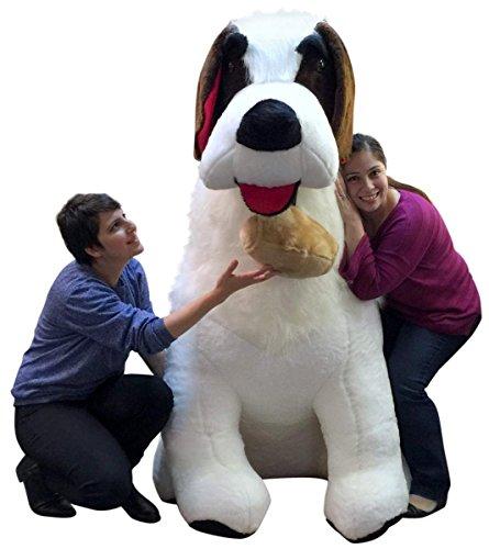 Big Plush American Made Huge Stuffed Saint Bernard 60 Inches Soft 5 Foot Dog New ()