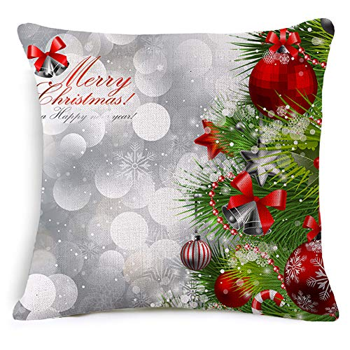 JINLE Christmas Pillow Covers Pillowcase Suitable for Home Living Room Bedroom Decoration Car Interior Design Office Layout,18x18inches,45cm45cm Pack of 1