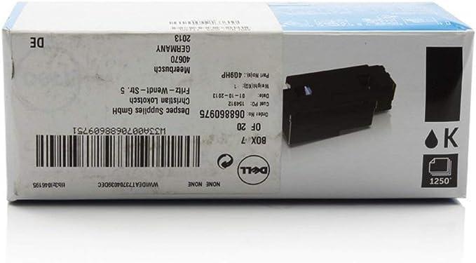 Dell Original Dell C 1660 W 7c6f7 59311130 Toner Schwarz 1 250 Seiten Bürobedarf Schreibwaren