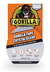 Crystal Clear Transparent Gorilla Duct Tape features the strength of Gorilla Tape, in a crystal clear tape that does not yellow outdoors. Made with a heavy duty adhesive layer and waterproof backing for extreme durability. This tape is UV and...