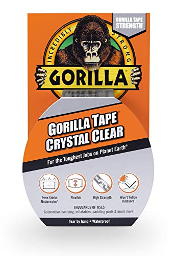"Gorilla Crystal Clear Duct Tape, 1.88"" x 9 yd, Clear, (Pack of 1) ()"