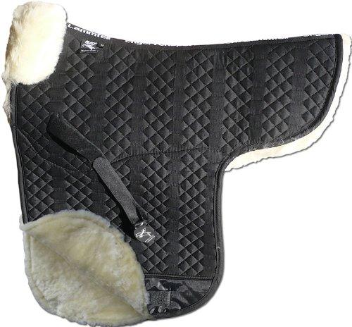ENGEL GERMANY sottosella pelle di agnello cottone nero pelliccia rosa (Sadek 3) dai colorei vivaci  da abbinare a 12 colorei di pelliccia di agnello  dressage (D)