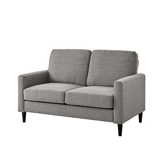 Dorel Living Beckie Loveseat, Gray Love Seats -  - sofas-couches, living-room-furniture, living-room - 51CVgWjP6lL. SS570  -