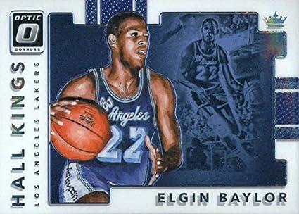 1083b9bd922 2017-18 Donruss Optic Hall Kings #2 Elgin Baylor Los Angeles Lakers  Basketball Card