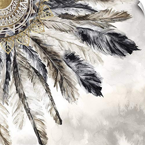CANVAS ON DEMAND Necklace of Feathers III Wall Peel Art Print, 10