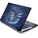 Skinit Fantasy & Dragons Generic 17in Laptop (15.2in X 9.9in) Skin - Dragonfly Celtic Knot Design - Ultra Thin, Lightweight Vinyl Decal Protection