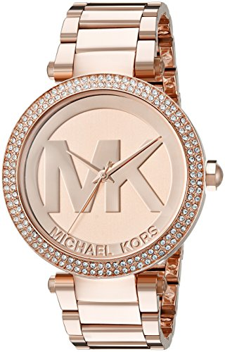 Michael Kors Womens Parker Rose Gold-Tone Watch MK5865