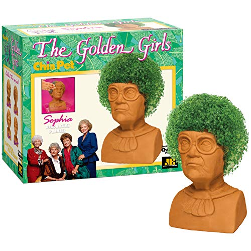 Chia Pet Golden Girls Sophia with Seed Pack, Decorative Pottery Planter, Easy to Do and Fun to Grow, Novelty Gift, Perfect for Any Occasion ()
