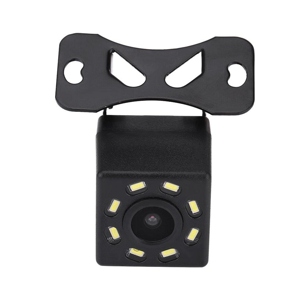 Videoc/ámara Amplio /ángulo de visi/ón Dise/ño a prueba de golpes para autom/óviles Camiones SUV RV Van C/ámara trasera impermeable para coche con visi/ón nocturna 8 LED