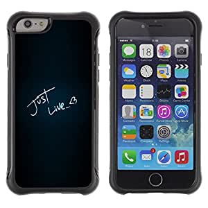 Paccase / Suave TPU GEL Caso Carcasa de Protección Funda para - Just Like Love Heart Neon Text Black - Apple Iphone 6 PLUS 5.5