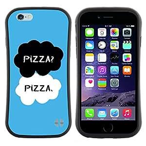 "Pulsar iFace Series Tpu silicona Carcasa Funda Case para Apple (4.7 inches!!!) iPhone 6 / 6S (4.7 INCH) , Alimentos Negro Blanco Azul Chef texto"""