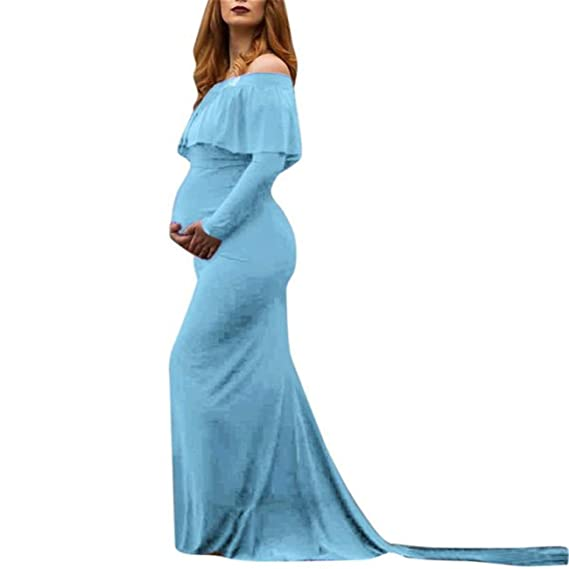 Premamá Invierno Leggins Abrigos Mujeres Embarazadas Fotos Sexy Accesorios De Hombros Volantes De EnfermeríA Vestido Largo: Amazon.es: Ropa y accesorios