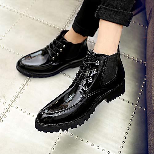 Eu Cuir Verni Personnalité 42 boots De Patchwork En Botte Taille Hommes Noir Décontracté Pour Bottines Yajie color Vert Haute 8qpf00TR