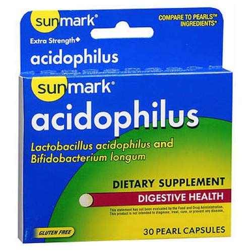 Sunmark Extra Strength Acidophilus Pearl Capsules, 30 Caps by Sunmark (Pack of ()