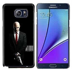 "Be-Star Único Patrón Plástico Duro Fundas Cover Cubre Hard Case Cover Para Samsung Galaxy Note5 / N920 ( Agent 47 Hitman asesino mortal"" )"