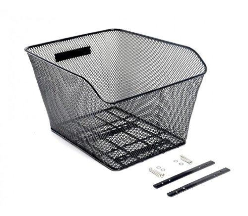 CyclingDeal Bike Bicycle Rear Wire Mesh Basket for Hybrid Flat bar or MTB