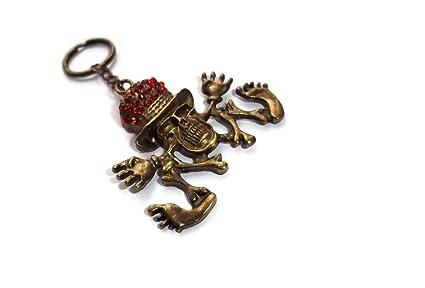 halo accessories skull keyring - Llavero Mujer marrón marrón ...