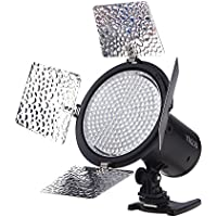 YONGNUO YN216 YN-216 LED Video Camera Light with Adjustable 3200K-5500K Color Temperature and 4 Color Plates for Canon Nikon DSLR Cameras