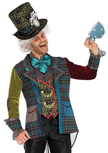 Leg Avenue Men's Mad Hatter Wonderland Costume, Multi