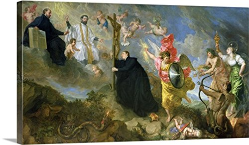 Theodor (1620-1678) Boeyermans Gallery-Wrapped Canvas entitled The Vows of Saint Aloysius of Gonzaga by greatBIGcanvas