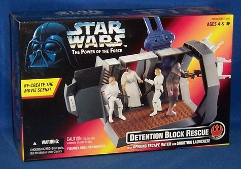 Star Wars Power of the Force Detention Block Rescue Playset