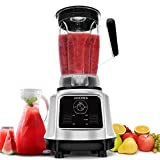 AIMORES Commercial Blender for Smoothie,Juice,Ice Cream,Variable Speed Control, 8 Stainless Steel Blades, 75oz Big Tritan Pitcher, with Essential Nutrition Recipe | ETL & FDA Certified (Silver)