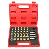 8milelake 114pcs Oil Pan Drain Sump Plug Key Thread Repair Tool Kit Set Drain Plug