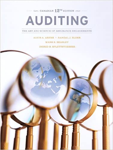 Auditing: The Art and Science of Assurance Engagements, Canadian Edition
