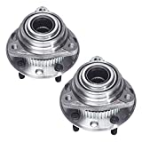 TUCAREST 513061 x2 (Pair) Front Wheel Bearing and Hub Assembly Compatible With Chevrolet S10 Blazer GMC S15 Jimmy Sonoma Syclone Typhoon Oldsmobile Bravada [AWD 4WD 4x4 5 Lug W/ABS]