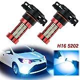 5202 amber led fog light bulbs - 2x Ice Blue H16 5202 LED Bulbs with Projector Lens 106 SMD for Fog Lights DRL Driving Bulbs