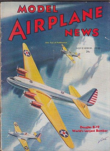 - MODEL AIRPLANE NEWS Douglas XB-19 Seversky P-35 Messerschmitt + 11 1940