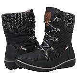GLOBALWIN Women's 1841 Black Winter Snow Boots 8.5M