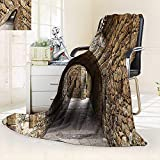vanfan All-Season Super Soft Blanket Collection Medieval Ancient Historic Street Stone Walls in Pals Girona Catalonia Spain,Silky Soft,Anti-Static,2 Ply Thick Blanket. (90''x70'')