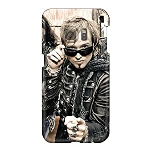 Perfect Hard Cell-phone Cases For Samsung Galaxy S6 With Allow Personal Design Realistic Edguy Band Pictures JohnPrimeauMaurice
