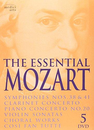 The Essential Mozart: Symphonies Nos. 38 & 41; Clarinet Concerto; Piano Concerto, No. 20; Violin Sonatas; Choral Works; Cosi Fan Tutte (Violin Concerto Dvd)