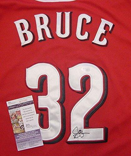 Jay Bruce Cincinnati Reds Autographed Red #32 Jersey JSA COA